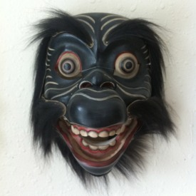 Balinese monkey mask. This one has a movable jaw!