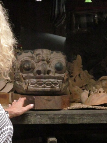 The Barong Ket carved by Tisnu's grandfather.
