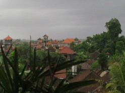 A view of Ubud from three stories up.