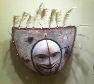 The feathers on this Inuit mask are important for what they are, not for the way they create an illusion of a face.