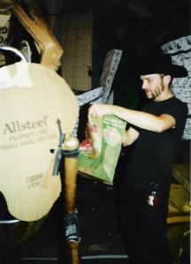 Making puppets in Minneapolis, circa 2000.