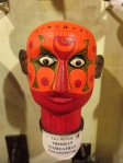 Another ritual performance called Theyyam was represented by these painted heads.