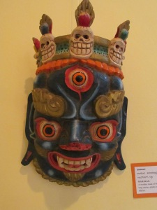 A Mahakal mask from the Limbu of Geyzing, Sikkim. It is a variant of the one in red.