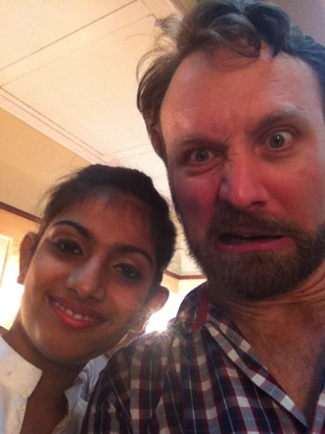 I thought Astha was going to make the same face. Tricked again.