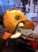 Hawk's rehearsal piece gave us both a way to test the scale of the mask.