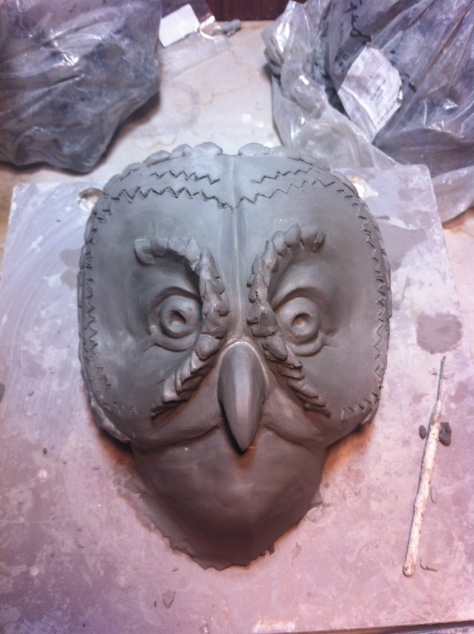 Sculpting happened quite quickly on this project because the mask was needed quickly.