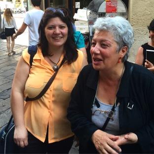 Sarah Sartori and Paola Piizzi, leaders of the workshop